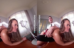 DDFNetwork VR - Blue Angel Spanked and Fucked Hard in VR
