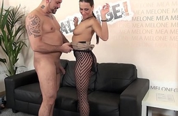 Beamy guy show her muscle cock to pornstar Mea Melone