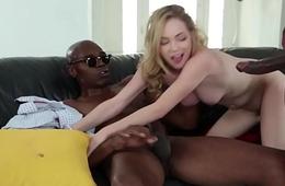 Teenie doublepenetrated by big black cocks