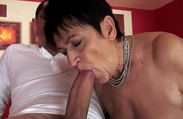 Pussylicked grandma gets drilled deeply