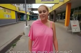 Cutie amateur european slut seduces tourist dor a private road blowjob 32