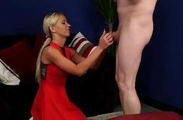 CFNM debutante teasing her sub partner