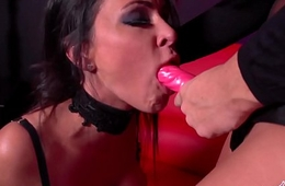 Jessica Jaymes is fucked by Alison Tyler using a big strap on