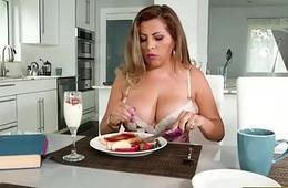 Busty latin chick Alessandra Miller pounded