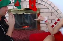 Horny Stepmom in Christmas