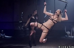 Obscurity slave anal fucked in lezdom
