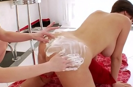 Lesbian booty squirts