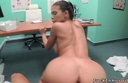 Petite neonate sucks doctors dick in bathroom