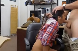 Cowgirl Lexie Banderas Sucking Dick In Pawn Shop Office