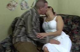 chubby Milf gets beamy cock anal fucked