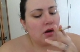 BBW Smokes and Sucks Cock