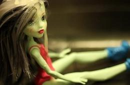 My STUNNING Frankie Stein doll is ADDICTED to CUM