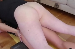 Kinky kitten was brought beside anal nuthouse for painful treatment