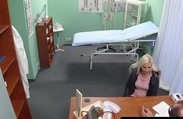 Blonde took place wanking her doctors bushwa