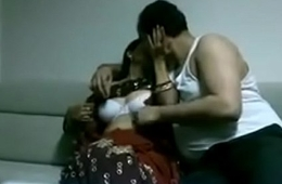 Indian desi wife in saree having it away Husband in house