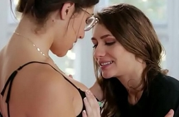 Rebel Lynn with an increment of Abella Danger pleasuring each other'_s twats