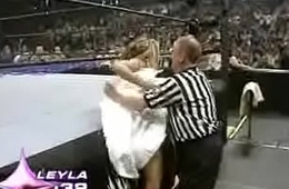 WWE Raw July 4th 2005 - Bikini Boot Camp - Leyla Nipple Slip (2005 Divas Search) - Porn Sex Nude Celeb Blooper Clip