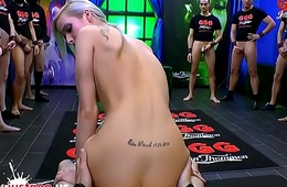 Beautiful Ria Sunn gets her holes filled nearly cock - German Goo Girls