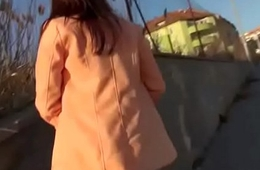 Public Blowjob With Sexy Slut And American Tourist 11