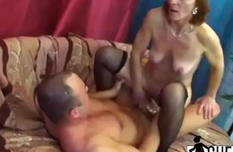 A- old bitch is having fun with herself before pussy wrecking