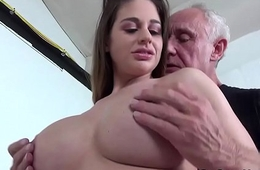 Cathy Heaven shacking up with Grandad Ben Dover
