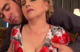 chubby hairy mom gets wild fucked