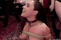 Orgy slaves bother at bdsm party