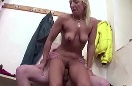 Hot MILF Teacher Jolly along Young Schoolboy To Fuck after Sport lesson