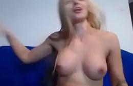 blonde slut on cam