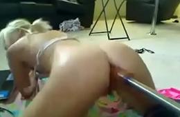 screaming blonde machine fuck watch on hotwebcams website