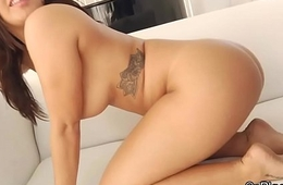 Broad in the beam tit gagging on big black cock