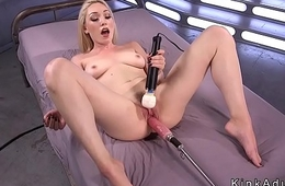 Blonde fucking machine and also gaoling