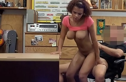 Big boobs ebony railed to the fore pawnshop