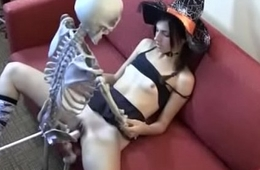 Who is she? Witch fucking skeleton